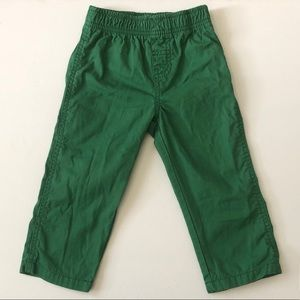 Carter's Boys Green Straight Leg Pants 24 Months